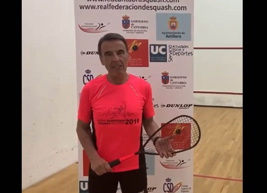 Mensaje del presidente de la Federación Cántabra de Squash, Jose Luis Orizaola, con motivo del día del deporte 2021.
