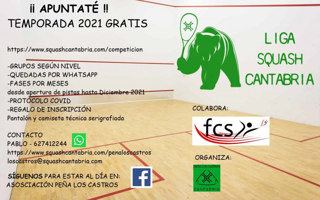 Normativa Liga Squash Cantabria 2021